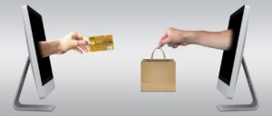 Payment with credit card for goods